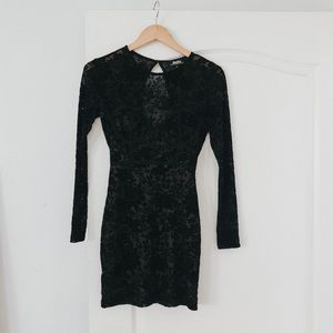 Black Open-back mini dress (Perfect for holiday!)